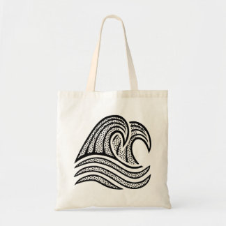 Cool Dotted Waves Tote Bag
