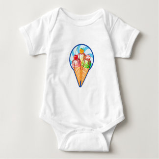 Cool down baby bodysuit