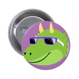 Cool Draco the Fluffy Monster 2 Inch Round Button