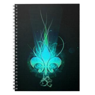cool draw flower lis notebook