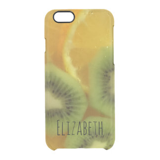 Cool Drink Fruit Personalized Clear iPhone 6/6S Case