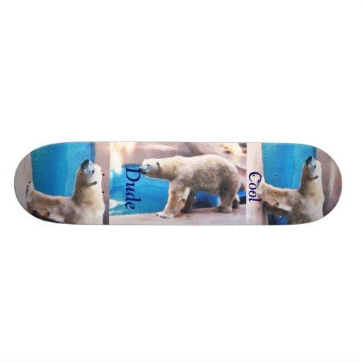 Cool Dude Polar Bear Boar Skate Board Decks