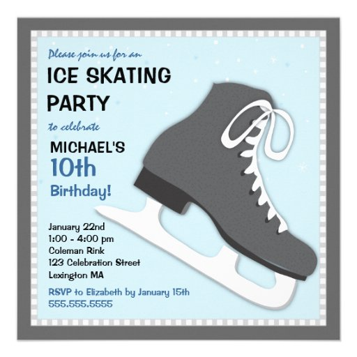 Ice Skating Birthday Invitations is an amazing ideas you had to choose for invitation design