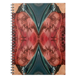 Cool Dusty Rose Artistic Pattern Notebooks