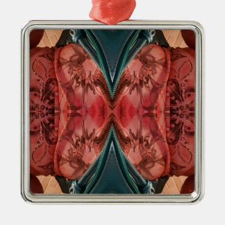 Cool Dusty Rose Artistic Pattern Silver-Colored Square Ornament