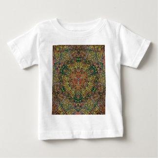 Cool Earthy Fall Colors Mandala Pattern Baby T-Shirt