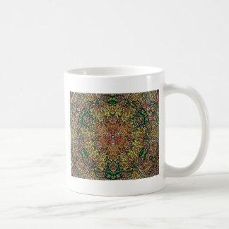 Cool Earthy Fall Colors Mandala Pattern Coffee Mug