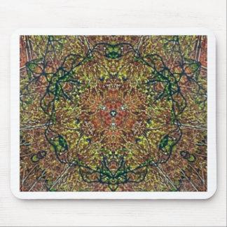 Cool Earthy Fall Colors Mandala Pattern Mouse Pad