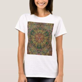 Cool Earthy Fall Colors Mandala Pattern T-Shirt