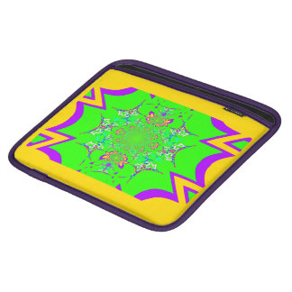Cool edgy beautifully colorful yellow and purple iPad sleeve
