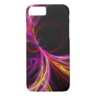 cool electric neon yellow fuschia laser abstract iPhone 8/7 case