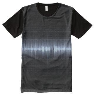 Cool Electrocardiogram Design Black Blue All-Over-Print T-Shirt