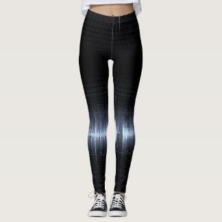 Cool Electrocardiogram Design Black Blue Leggings