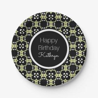 Cool & Elegant Birthday Paper Plate