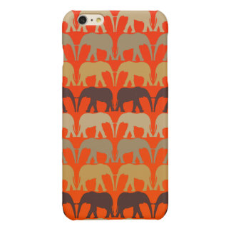 Cool Elephants Pattern On Sunset Orange