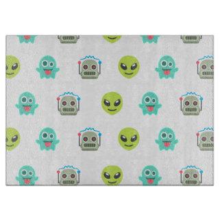 Cool Emoji Alien Ghost Robot Face Pattern Boards