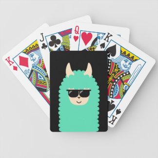 Cool Emoji Llama Bicycle Playing Cards