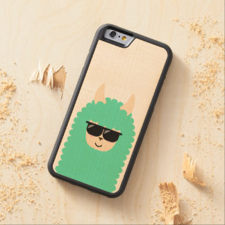 Cool Emoji Llama Carved Maple iPhone 6 Bumper Case