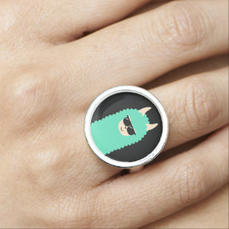 Cool Emoji Llama Ring