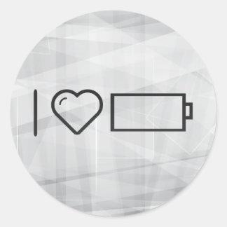 Cool Empty Batteries Classic Round Sticker