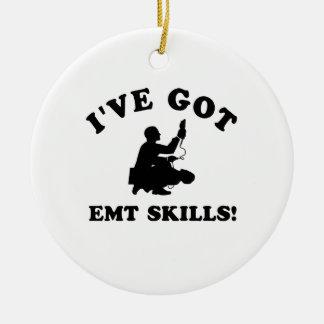 Cool EMT SKILLS  designs Round Ceramic Ornament