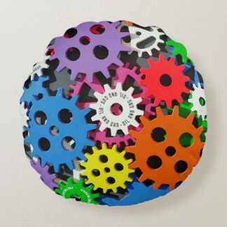 """Cool Engineer Round Throw Pillow (16"""")"""