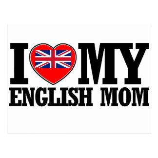 cool English  mom designs Postcard