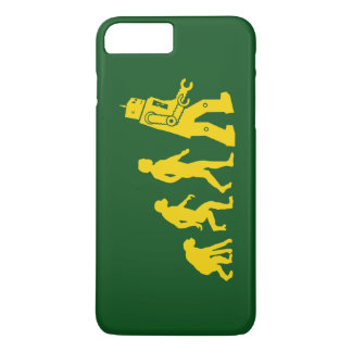 Cool evolution of ape to Man, Man to robot diagram iPhone 7 Plus Case