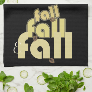 Cool Fall Typography Monogrammed Towel