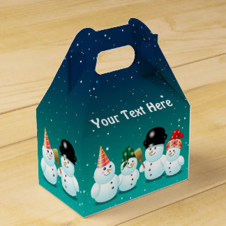 Cool Family of Snowmen Favor Box