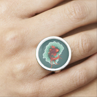 Cool Fantasy Koi Fish Ring