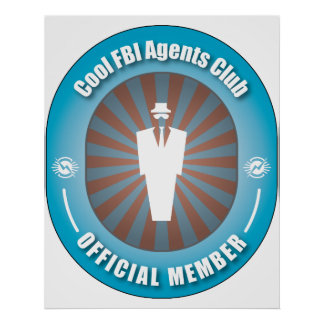 Cool FBI Agents Club Poster