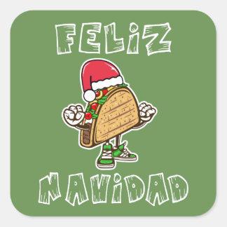 Cool Feliz Navidad Santa Taco Sticker