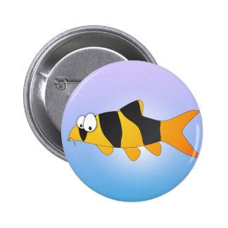 Cool fish - Clown loach 2 Inch Round Button