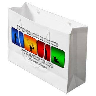 Cool Fishing It Is A Way Of Life Large Gift Bag