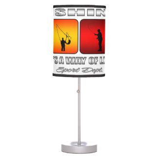 Cool Fishing It Is A Way Of Life Table Lamp