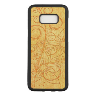 Cool Floral Design Carved Samsung Galaxy S8+ Case