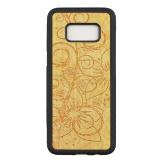 Cool Floral Design Carved Samsung Galaxy S8 Case