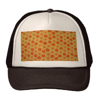 cool floral pattern mesh hat