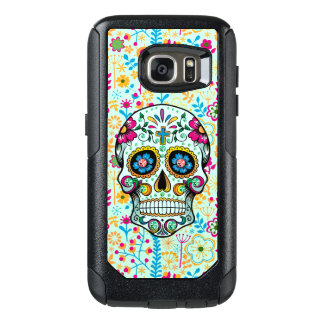 Cool Floral Sugar Skull Floral Pattern Background OtterBox Samsung Galaxy S7 Case
