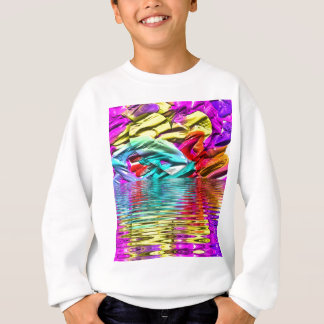 Cool Flourescent Pastel Abstract Water Ripples Sweatshirt