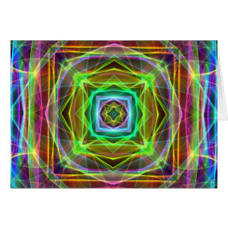 Cool Fluorescent Electrifying Pastel Squares Card
