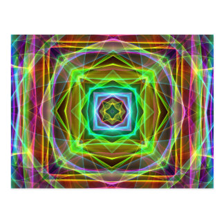Cool Fluorescent Electrifying Pastel Squares Postcard