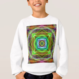 Cool Fluorescent Electrifying Pastel Squares Sweatshirt