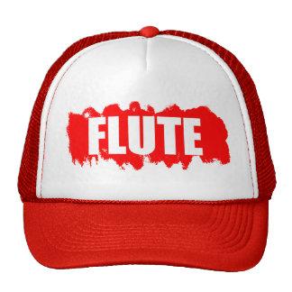 Cool flute player trucker hat