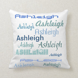 Cool Fonts Your Name Personalized Throw Pillow