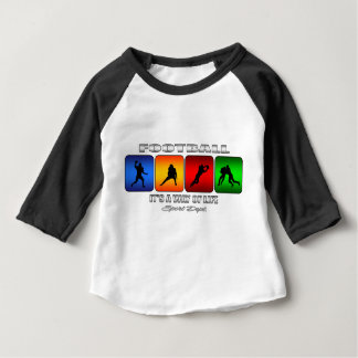 Cool Football It Is A Way Of Life Baby T-Shirt