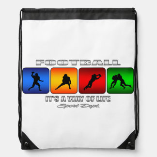 Cool Football It Is A Way Of Life Drawstring Bag