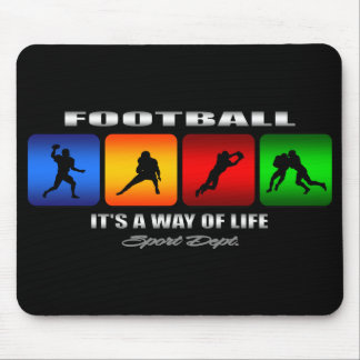 Cool Football It Is A Way Of Life Mouse Pad