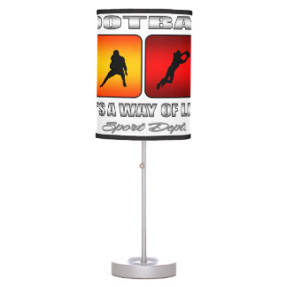 Cool Football It Is A Way Of Life Table Lamp